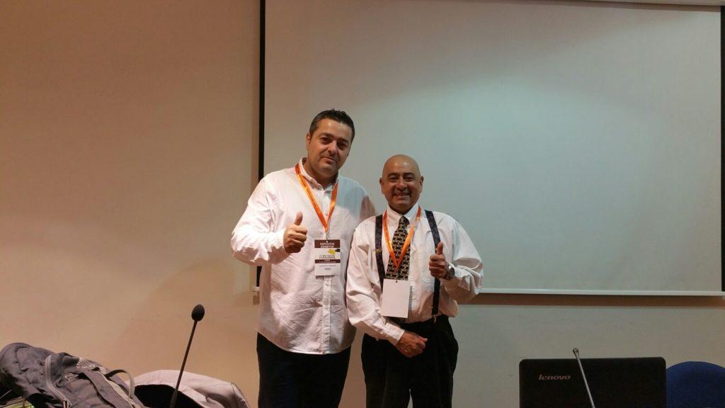 Carlos Jiménez con Beto Gil