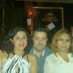 Ivette, Carlos y Karina en la cena de empresarios